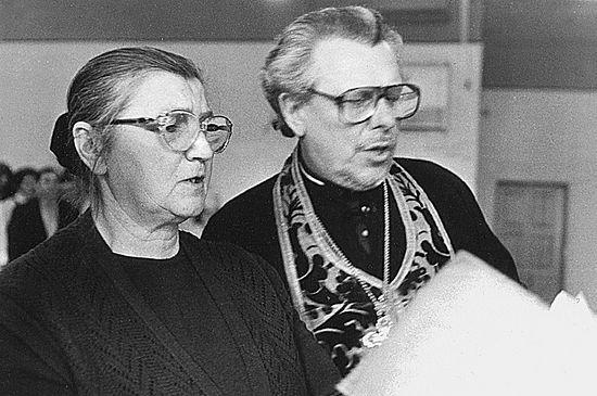 Протоиерей Алексий Злобин с супругой