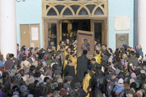 Литургия в Елоховском соборе 3 октября 1993 года. Чудотворная Владимирская икона Божией Матери