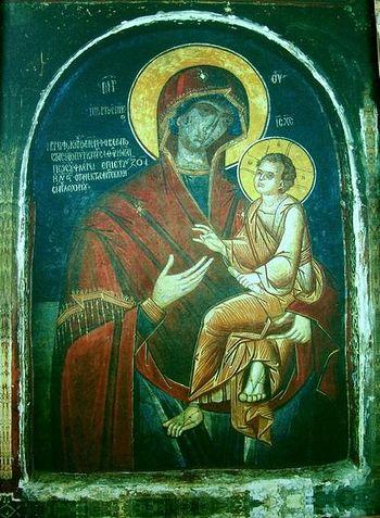 Икона Божией Матери Скоропослушница. Афонский монастырь Дохиар