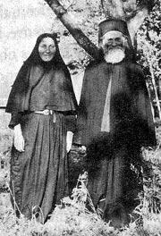 Отец Иустин с монахиней Ниной