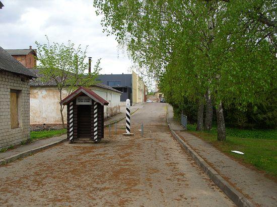 Валга. Граница между Эстонией и Латвией.