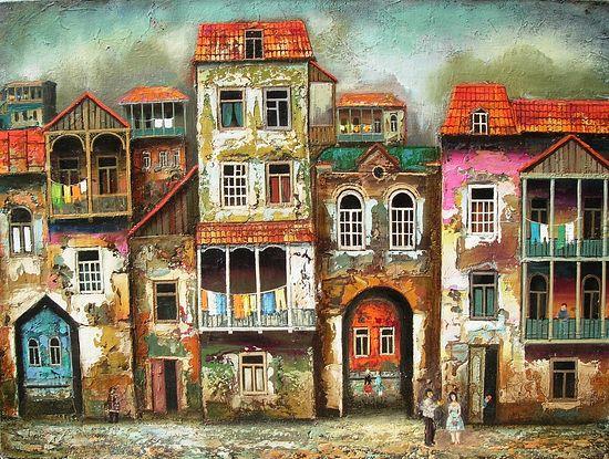 Старый Тбилиси. Художник: Давид Мартиашвили