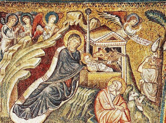 Рождество Христово. Фреска храма Санта Мария Маджоре, Рим