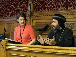 Baroness Elizabeth Berridge (left) and Bishop Angaelos. Photo: Brian Pellot