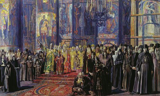 П. Корин. Русь уходящая. 1935—1959.