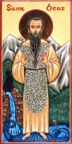 Святой Беатус, один из просветителей Швейцарии.