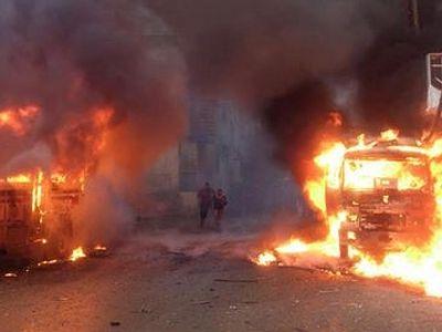 В Сирии боевики сожгли церковь в приграничном городе Тель-Абйяд