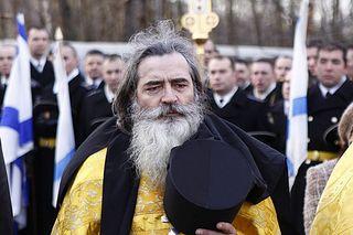 На фото: Войсковой священник гарнизона Северодвинска иером. Вениамин (Ковтун).