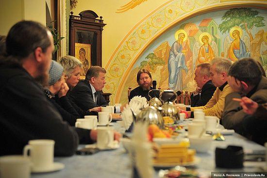 Встреча в Сретенском монастыре, посвященная владыке Питириму. Фото: А. Поспелов / Православие.Ru