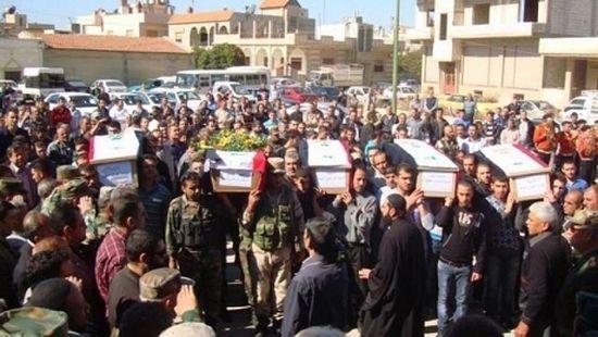 Похороны убитых боевиками