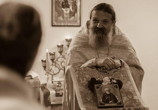 Духовник монастыря протоиерей Андрей Лемешонок