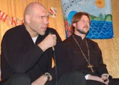 Н.Валуев на встрече с детьми в Веревской школе, организованной о.Глебом