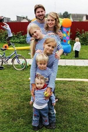 Отец Глеб Грозовский с семьей