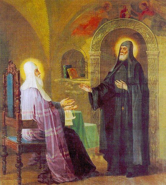 Преподобный Сергий отказывается от епископского сана.