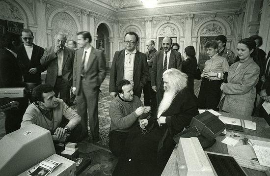 Встреча с журналистами в Советском фонде культуры. Май 1988 г.