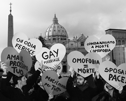 Активисты гей движения на площади Святого Петра(Фото: Reuters)