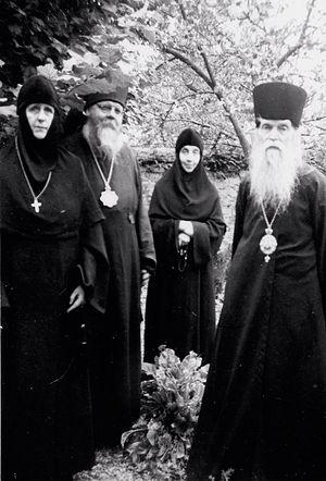 Игумения Мария и монахиня Варвара в Париже в гостях у митрополита Владимира (Тихоницкого) и епископа Мефодия (Кульмана)