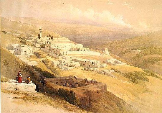 Иерусалим. Литография Луиса Хаге по рисункам Дэвида Робертса