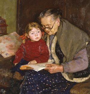 Белов Ю.В. Бабушка и внучка. 1958 г.
