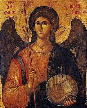 Archangel Michael. Greek icon, XIV century