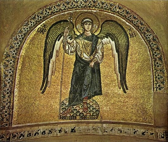 Archangel Michael. Mosaic of the Monastery of Daphni. Greece
