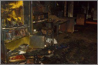 После поджога в селе Ленино