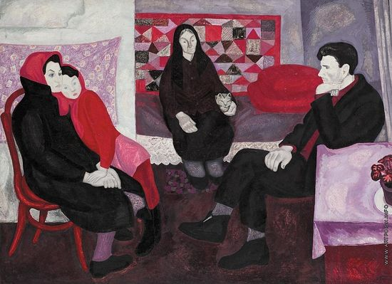 Viktor Popkov: Divorce (Svetlana, Mother, Father and Grandmother). 1966.