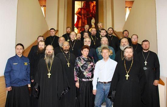 За време скупа војних свештеника у Новосибирском гарнизону. Прес-служба ЦВО