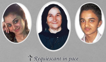 Images of three of the six family members tortured and thrown in a well by U.S.-supported Islamic terrorists.