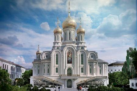 The proposed Church of the New Martyrs and Confessors of Russia, on Lubyanka.