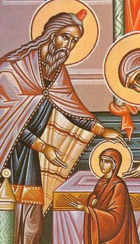 3. The High Priest Zacharias received the Mother of God into the Temple.