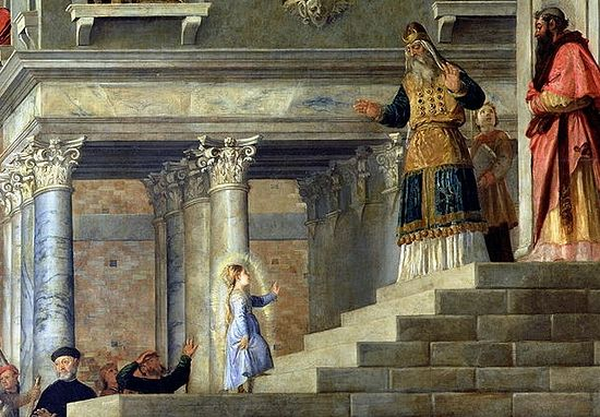 Presentation of the Virgin at the Temple (detail). Tizian. Gallerie dell'Accademia, Venice