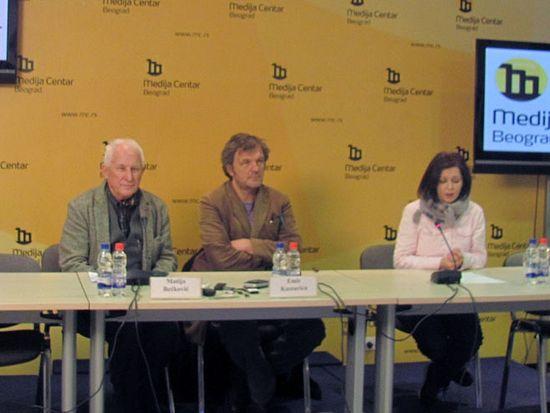 Кустурица и Бећковић у Београду на прес конференцији Фото: СРНА