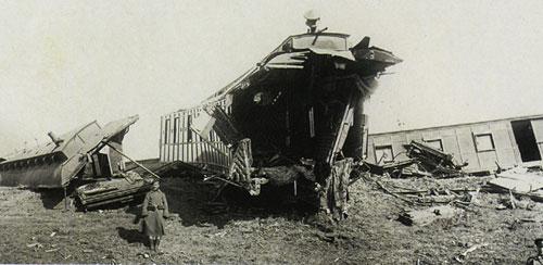 После крушения Императорского поезда.