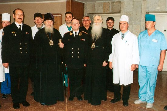 Святейший патриарх Алексий II в больнице у владыки Питирима