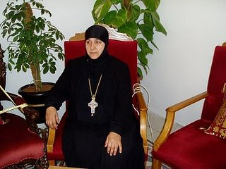Abbess of St Thecla in Maaloula Mother Pelagia (Sayyaf)