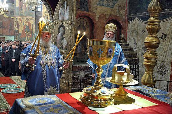 Патриаршее служение в день праздника Введения во храм Пресвятой Богородицы. Фото: patriarchia.ru.