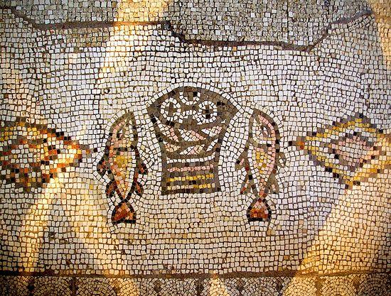 Хлебы и рыбы. Мозаика в Табхе