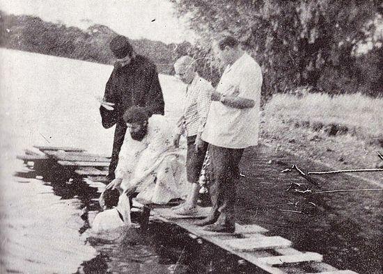 Крещение, 1974 год, фото из газеты Братства