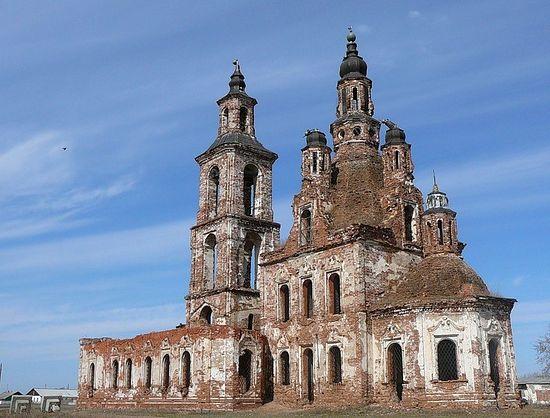 Село Карачельское Курганская область, Церковь Трех Святителей Великих, 1746 год.