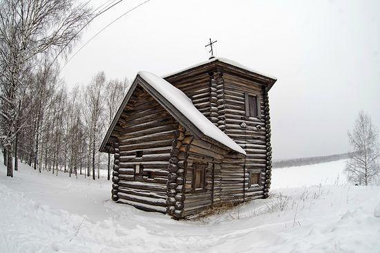 Богоявленская церковь в Пянтеге, есть версия, что это одна из первых деревянных церквей Урала.