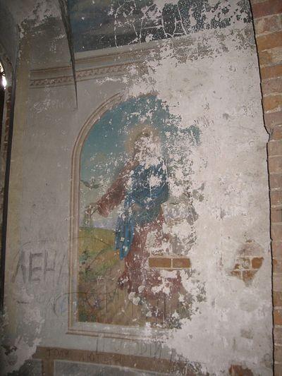 Храм в Камышево надписи на фресках.