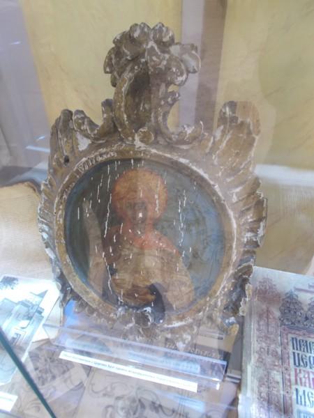 Образ Богородицы с Царских Врат одного из разрушенных подмосковных храмов.