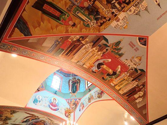 Воссоединение Русской Церкви. Фреска свято-Серафимовского храма