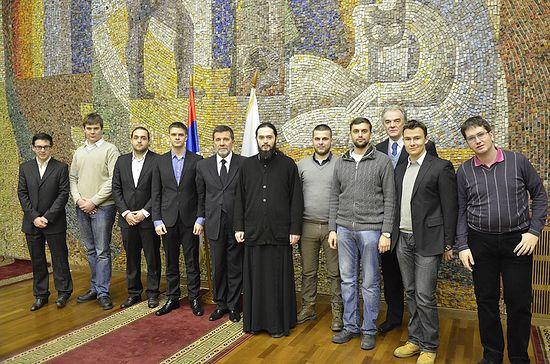 На сусрету с амбасадором присуствовали су студенти МДИМО, Московских духовних школа и других високошколских установа Фото: Православије.ru