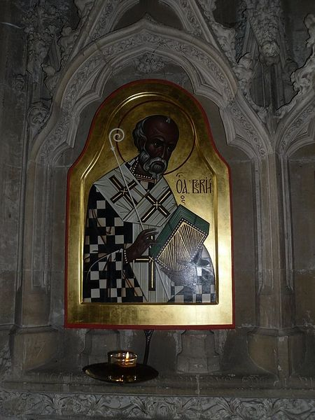 Icon of St. Birinus in the Winchester Cathedral. Photo: I. Lapa.