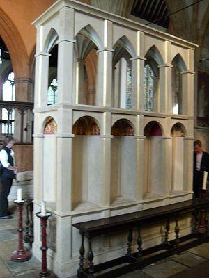 Restored Shrine of St. Birinus in the Dorchester Abbey.