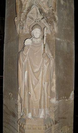 Statue of St. Birinus in St. Helen's Church in Abingdon. Photo: I. Lapa.