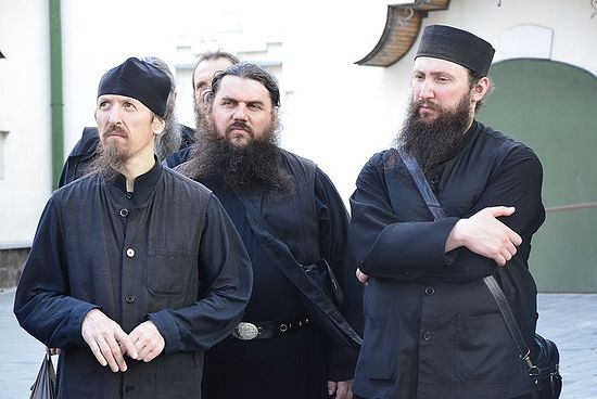 The brothers of Sretensky Monastery in the Holy Dormition Pochaev Lavra, July 2013. Photo: Hieromonk Ignaty (Shestakov)