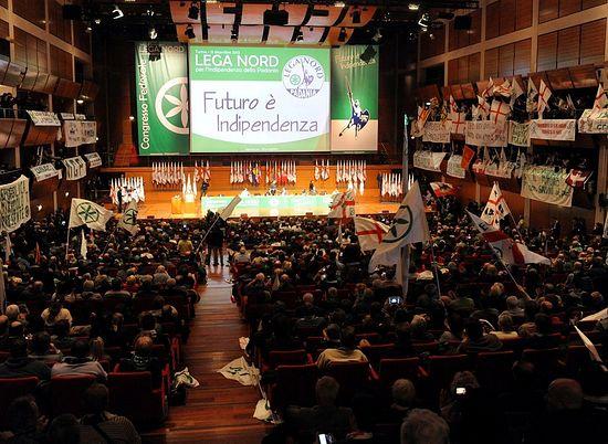 Федеральный конгресс итальянской консервативной политической партии «Лига Севера» (Lega Nord)
